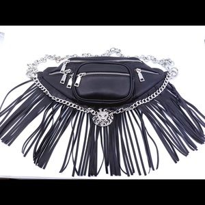 Lion Fringe Belt Bag